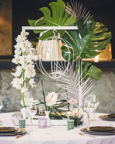 Thème exotique, mariage tropical plutôt végétal