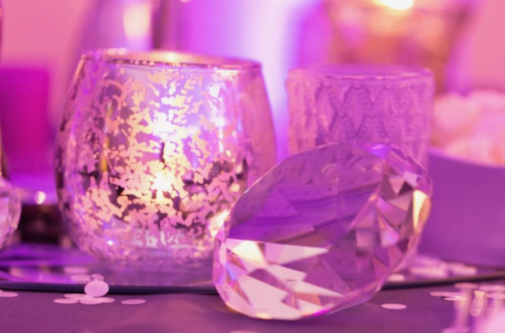 bijoux de table décoration mariage