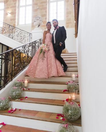 Un mariage à la décoration romantique, chic et élégant