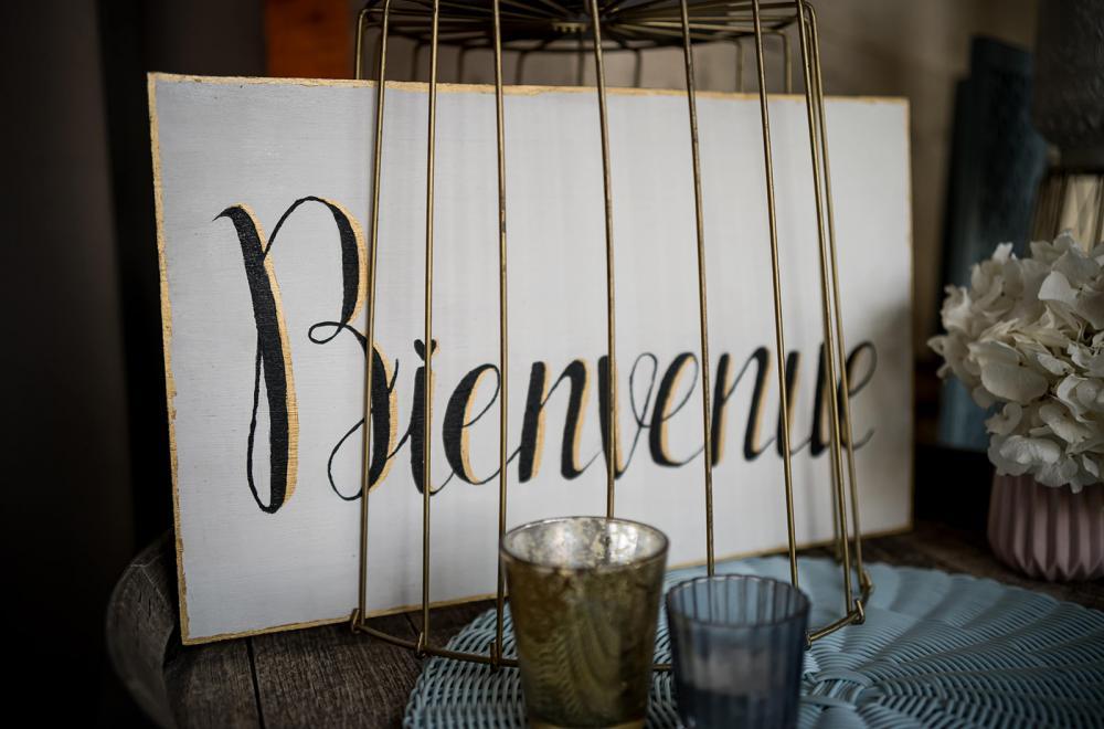 Panneaux, plaids, papeterie...une décoration personnalisée