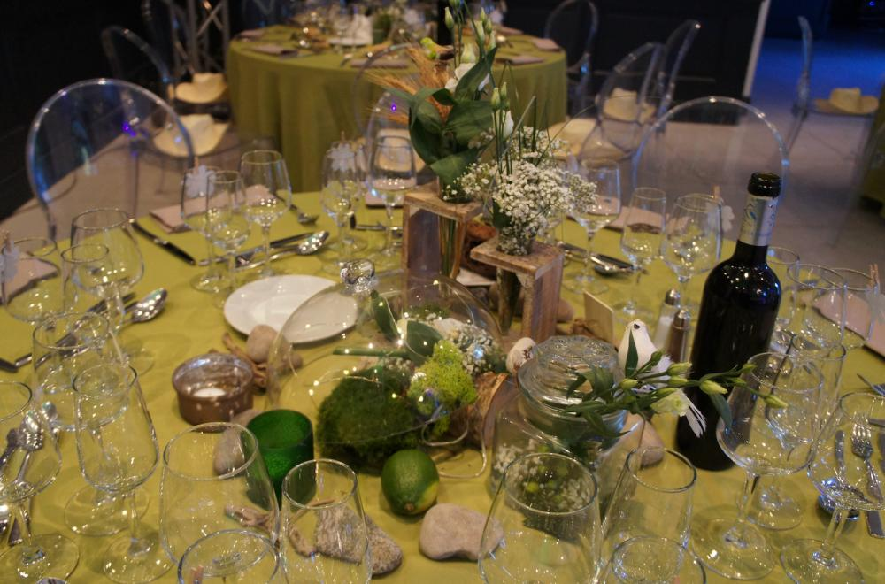 centres de tables vases