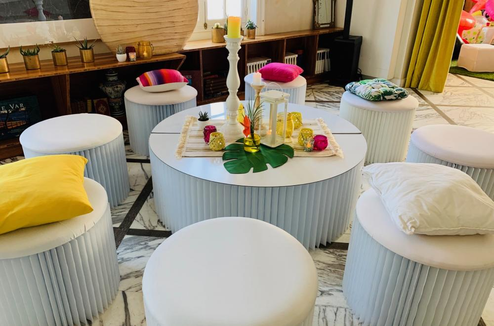 Lounge et Mobilier, décoration du mariage ou soirée moderne