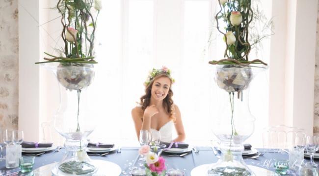 Vases Medicis tranparents ou argent, centres de table chics
