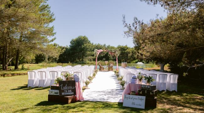Un mariage à la Bastide d'Astres, romantique, rose pâle