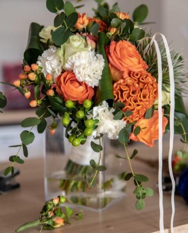Décoration de mariages et soirées : thème orangé, orange