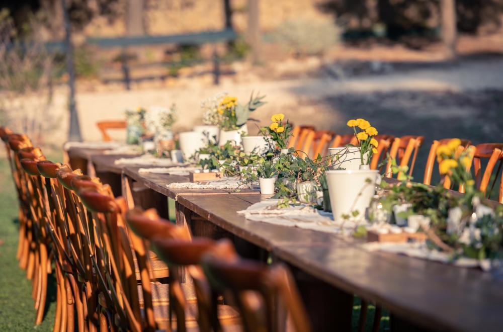 centre de table guirlande fleurs