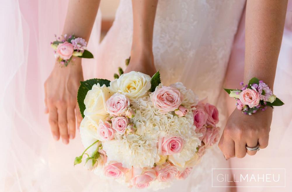 Décoration mariage rose pâle à Bandol