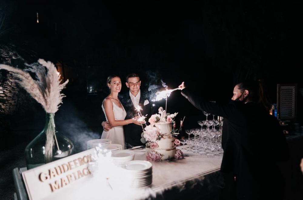 mariage boheme au Chateau des Costes