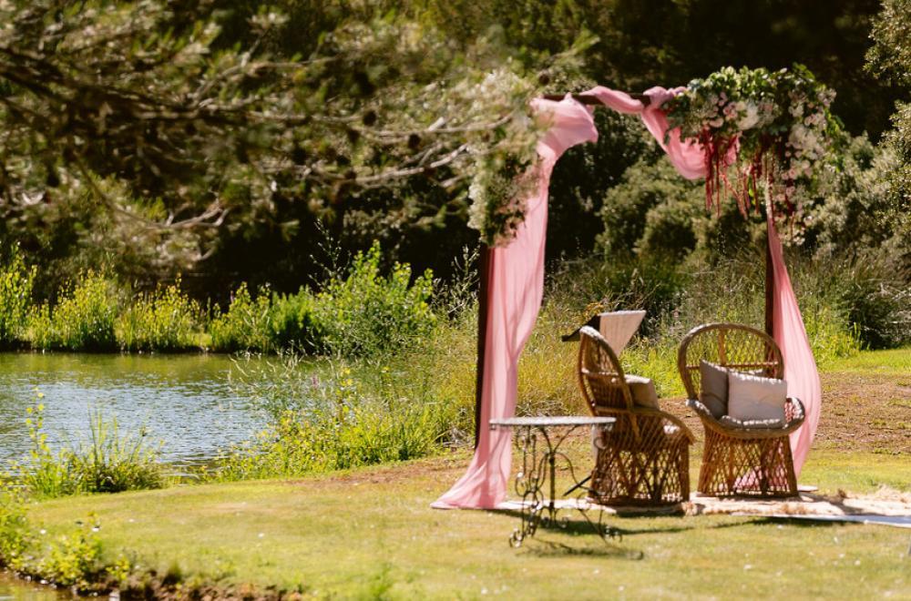 mariage à la décoration romantique, à la Bastide d'astres