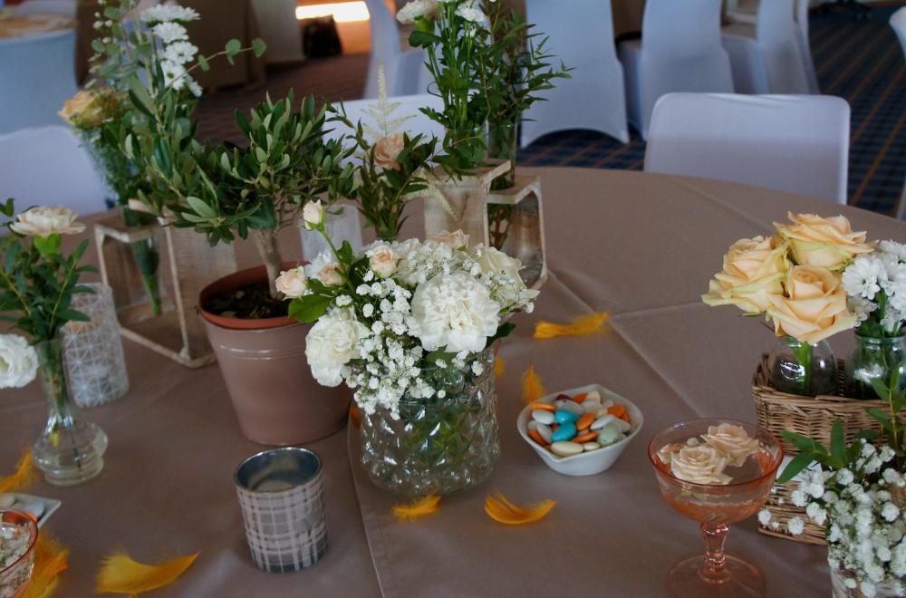centres de tables vases