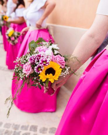 Décoration de mariage sur le thème colorful, couleurs vives