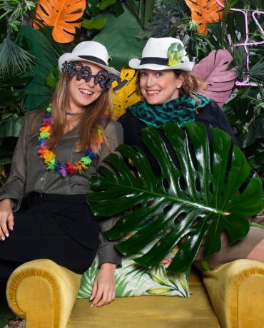 Tropiques et Savane, thème végétal, riche en couleurs et matières
