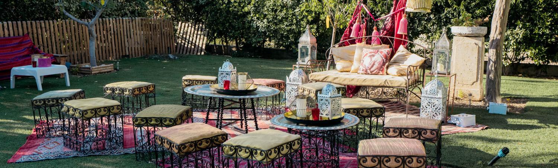 Notre mobilier de Marrakech en scène pour une ambiance orientale