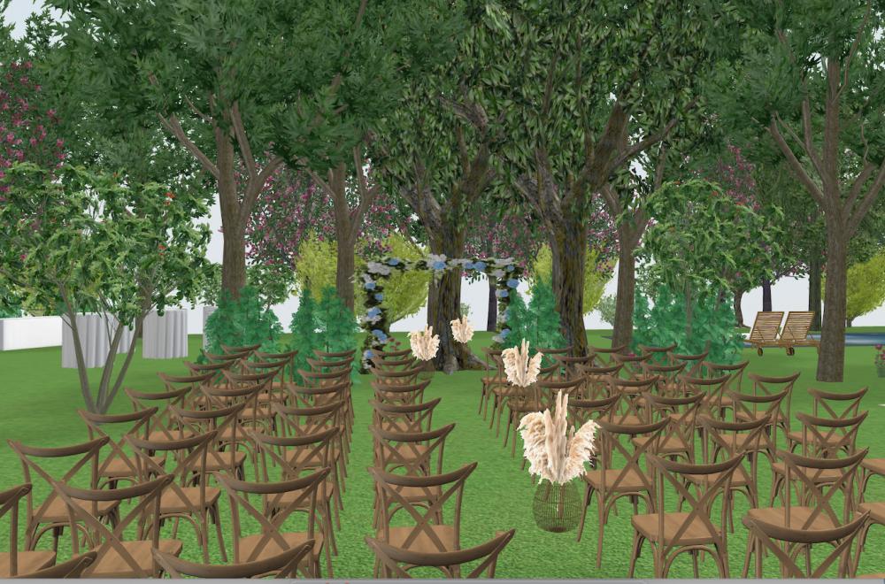 plans mariage en 3D