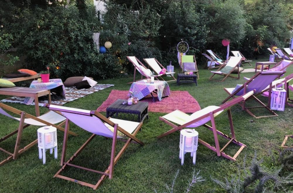 Mobilier Lounge bohème champêtre