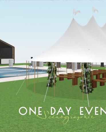 Scénographie, plans en 3D et implantation de lieux événementiels