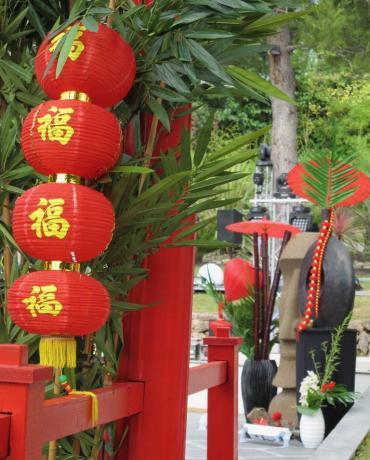 Asie, Chine, et Zen attitude en décoration de soirée