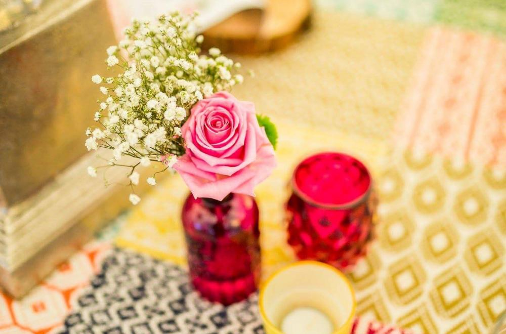 décoration colorée mariage