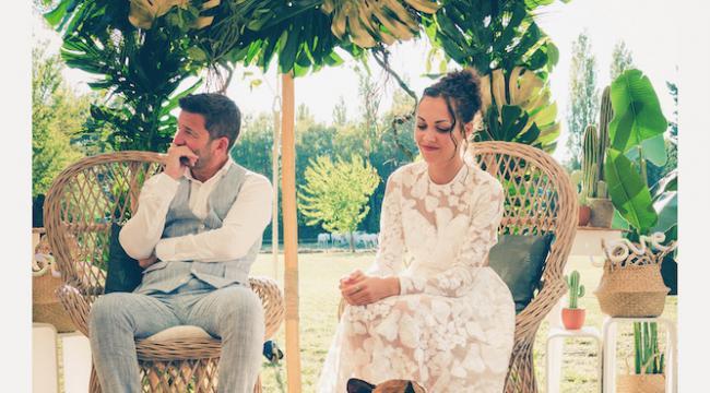Fauteuils, assises pour les mariés, pour la cérémonie laïque