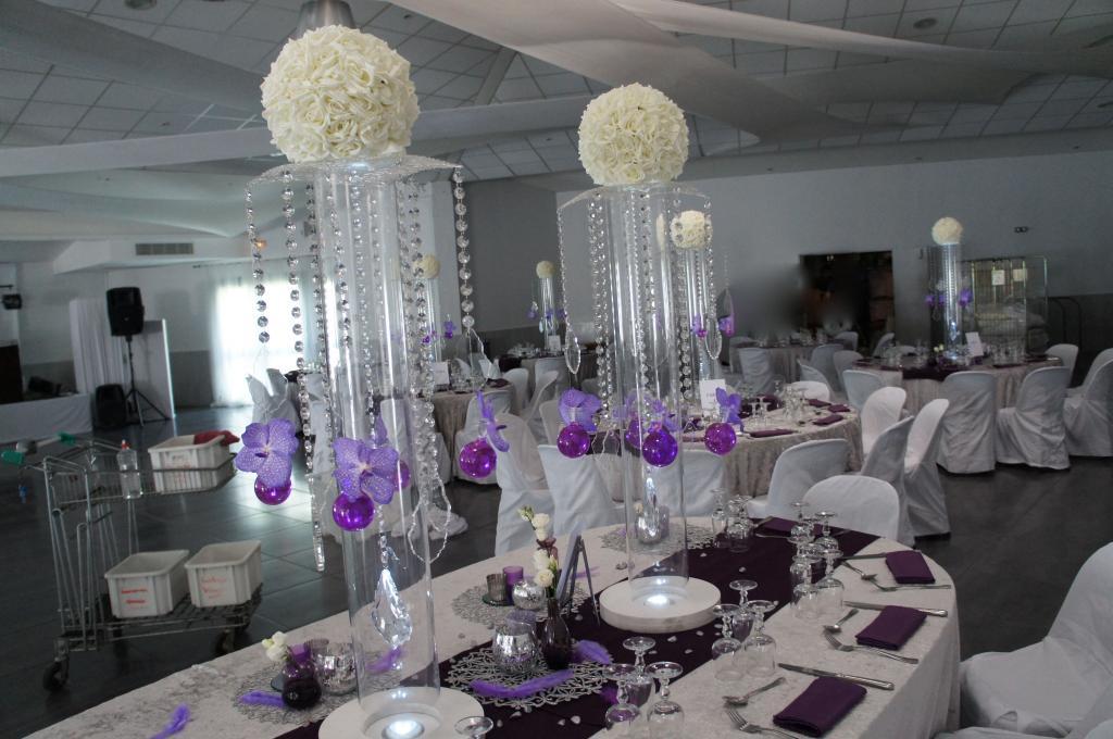 mariage violet blanc et argent soir e ou mariage en couleur. Black Bedroom Furniture Sets. Home Design Ideas
