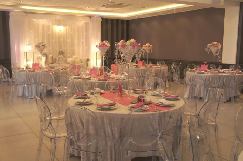 Mariage rose et argent au Riviera Saint Pons - Soirées ou mariages ...