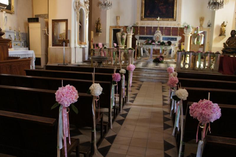 D coration du mariage l 39 glise ou la synagogue mariages aubagne - Decoration eglise mariage ...